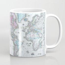 Vintage World Map 1855 Coffee Mug
