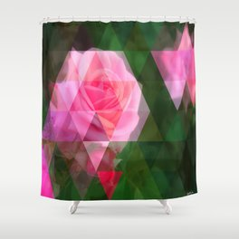 Pink Roses in Anzures 1 Art Triangles 1 Shower Curtain
