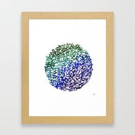 Botanical Medallion Framed Art Print