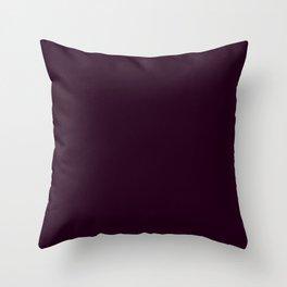 Eggplant Purple Color Scheme Home Decor Throw Pillow
