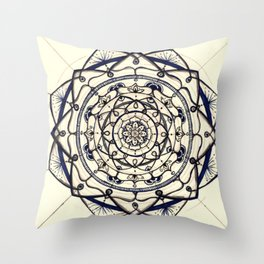 Mandala Flowers Throw Pillow