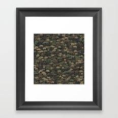 Invaders camouflage Framed Art Print