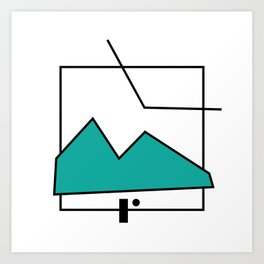 ABSTRACT MOUNTAIN LINES Art Print