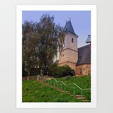 The village church of Kronstorf I | architectural photography Art Print