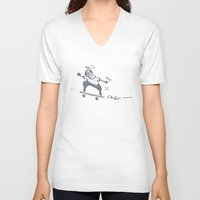 skate V-neck T-shirts featuring Skate! by Nat Samson