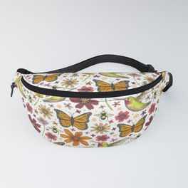 birds butterflies and blooms Fanny Pack