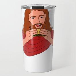 Let'S Taco Bout Jesus Christian Pun Protestant Bible Quote Jesus Travel Mug