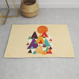 Let's visit the mountains Rug
