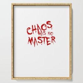 Chaos Has No Master Blood Red Graffiti Text Serving Tray