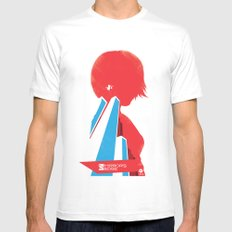 Mirror's Edge LARGE White Mens Fitted Tee
