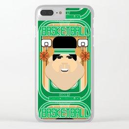 Basketball Green - Court Dunkdribbler - Victor version Clear iPhone Case