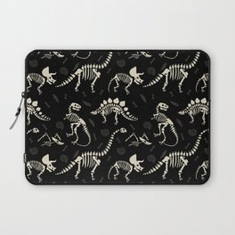 Dinosaur Fossils on Black Laptop Sleeve