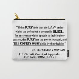 Jury Nullificaton Case Law Quote Carry-All Pouch