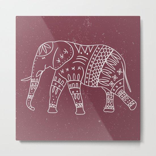 Yoga Elephant 2 Metal Print
