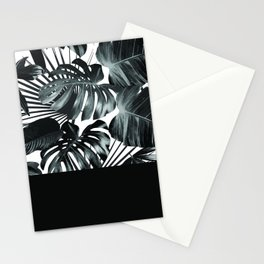 Palm Leaves and Black Stationery Cards
