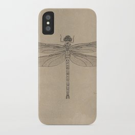 Dragonfly Fossil Dos iPhone Case