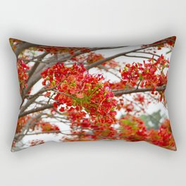 Red Tree Rectangular Pillow