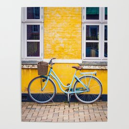 Bike and yellow Poster