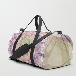 Watercolor Fibonacci Spiral Duffle Bag