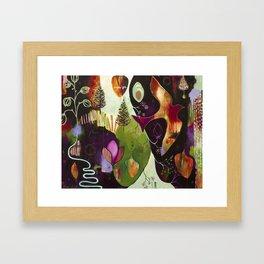 """Deep Peace"" Original Painting by Flora Bowley Framed Art Print"