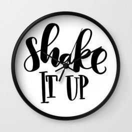 Shake It Up: white Wall Clock