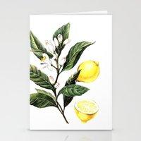 lemon Stationery Cards featuring Lemon by Anna Yudina
