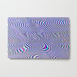 Glitch universe background. Old TV screen error. Metal Print