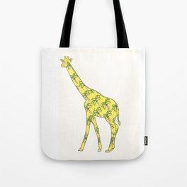 Giraffe Palm Tree Tote Bag