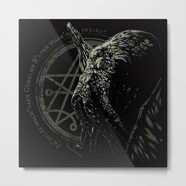 Cthulhu - Chant design - Necronomicon symbol Metal Print
