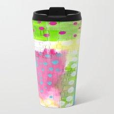 Polk-A-Dotted Background Travel Mug