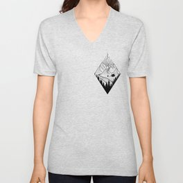 hiker hiking outdoor mountains nature camping gift Unisex V-Neck