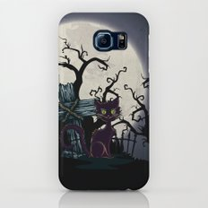 Vintage Halloween Cemetery Cat Galaxy S7 Slim Case