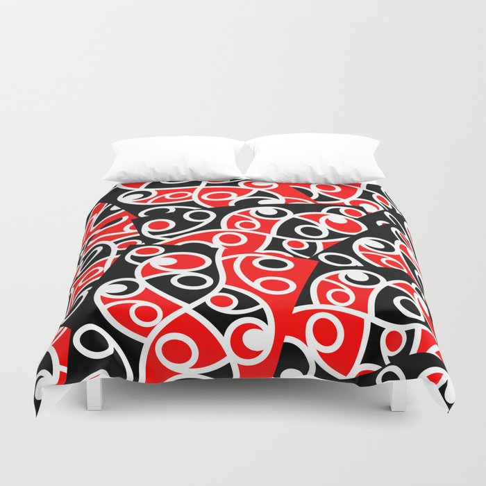 Maori Kowhaiwhai Patchwork Pattern Duvet Cover
