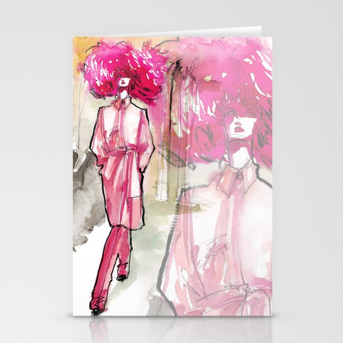 Runway diva Stationery Cards