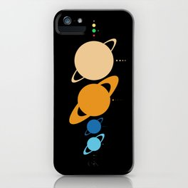Planets And Moons To Scale iPhone Case