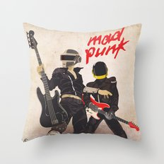 Mad Punk / A tribute to Daft Punk Throw Pillow