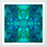 stained glass Art Prints featuring Stained-glass.  by Assiyam