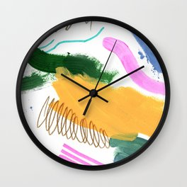 Abstract Brushes Pattern Wall Clock