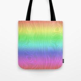 Groovy Pastel Rainbow Tote Bag