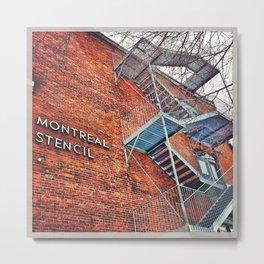Montreal Stencil Metal Print