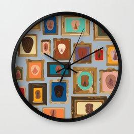 Framed Art/Body Parts (Vulvarieties) Wall Clock