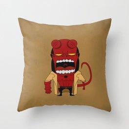 Screaming Helldude Throw Pillow