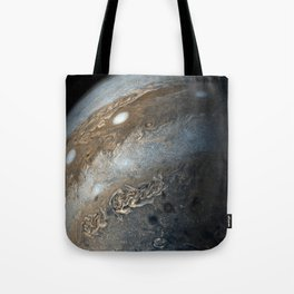 Storms on Jupiter from Juno Cam (2017) Tote Bag