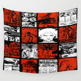RED & WHITE - A nne Frankenstein Book I - Resurrection Wall Tapestry
