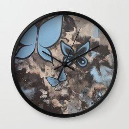 Butterflies for Mom Wall Clock
