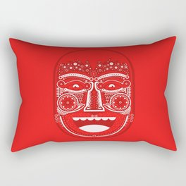 Red Is Mad Rectangular Pillow