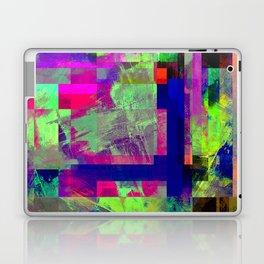 Pastel Geometry X - Abstract, goemetric, pastel coloured, textured artwork Laptop & iPad Skin