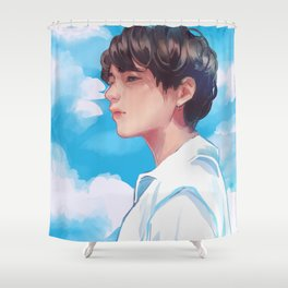 Taehyung FAKE LOVE Shower Curtain