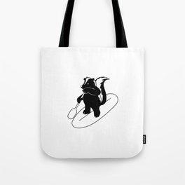 Animal Urbanites: Skunk on Paddle Board Tote Bag
