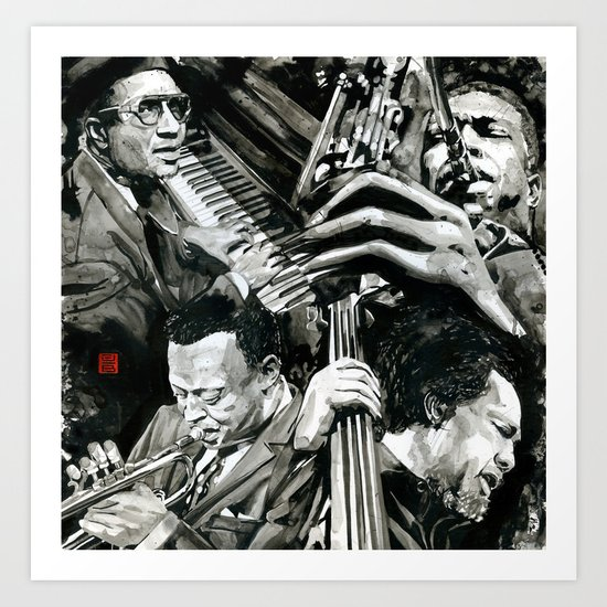 Jazz Greats Art Print